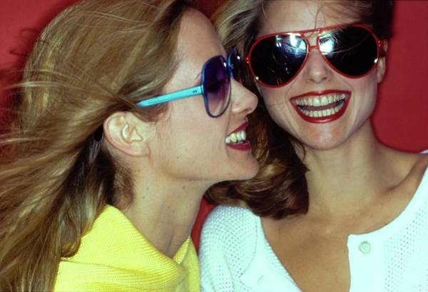Christie Brinkley Photograph - Models Wearing Sunglasses by Jacques Malignon