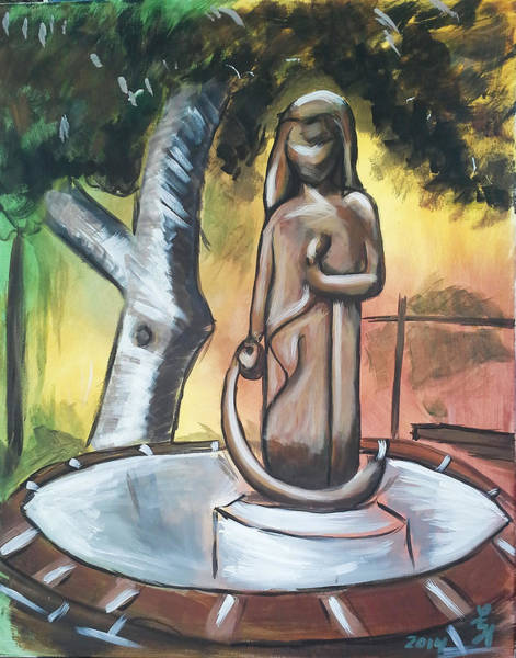 Painting - Modenian Fountain by Loretta Nash