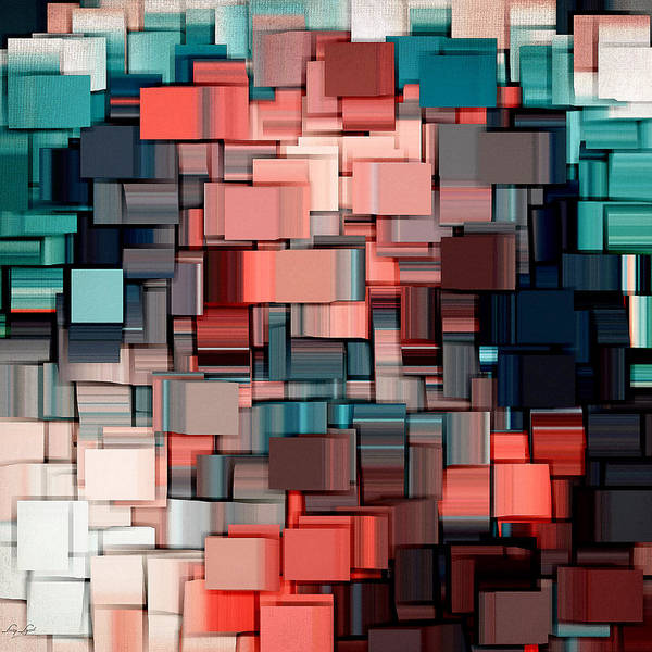 Rosy Wall Art - Digital Art - Modern Abstract Ix by Lourry Legarde
