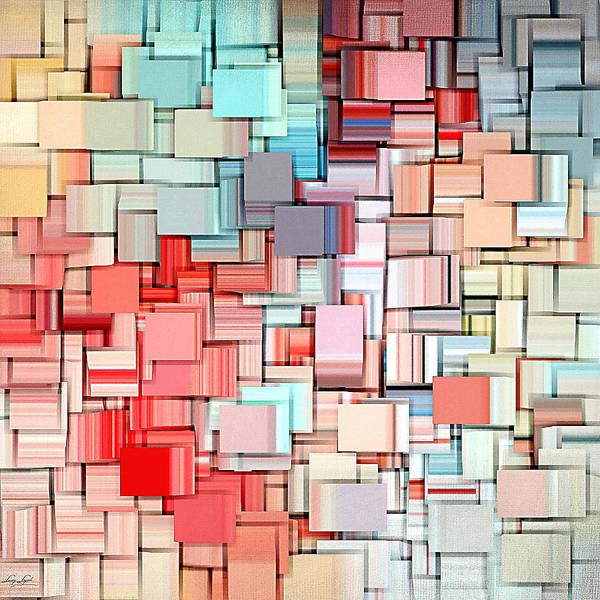Rosy Wall Art - Digital Art - Modern Abstract X by Lourry Legarde