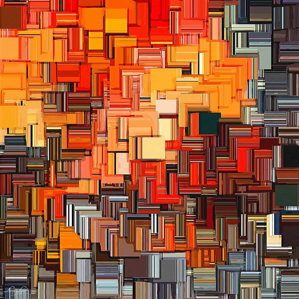 Burn Digital Art - Modern Abstract Xxxiv by Lourry Legarde