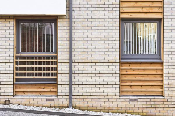 Housing Development Photograph - Modern Apartment Windows by Tom Gowanlock