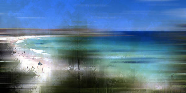 South Beach Digital Art - Modern-art Bondi Beach by Melanie Viola