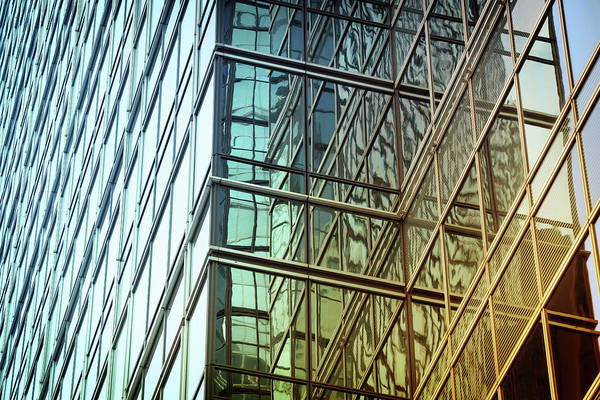 Horizontal Abstract Photograph - Modern Building Abstract by Blackred
