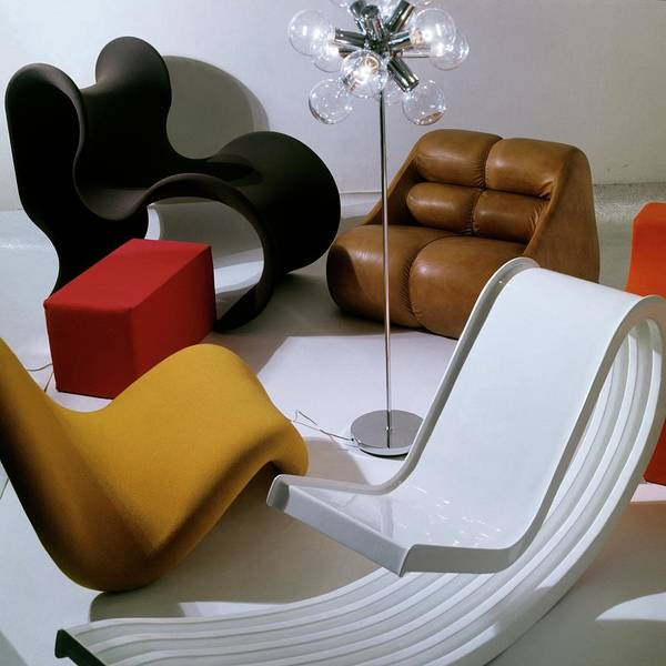 Light Photograph - Modern Chairs by Horst P. Horst