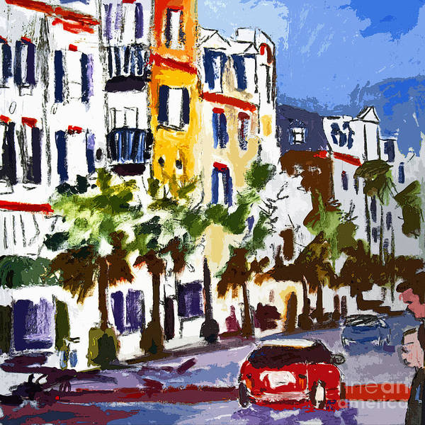 Painting - Modern Charleston South Carolina King Street Shopping by Ginette Callaway