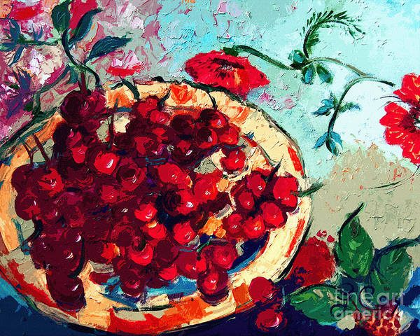 Painting - Modern Cherry Still Life by Ginette Callaway