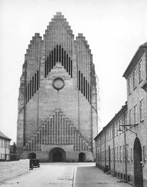 Photograph - Modern Danish Church by Underwood Archives
