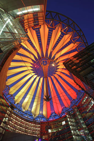 Sony Center Photograph - Modern Dome Of The Sony Center In Berlin by Massimo Pizzotti