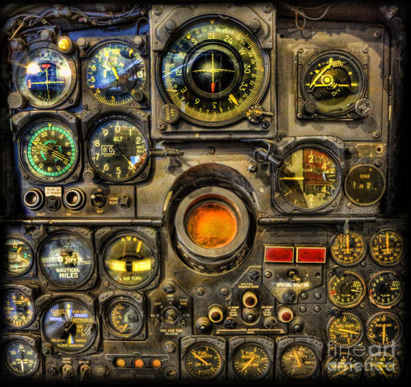 Mcp Photograph - Modern Electronic Cockpit - Flight Instruments by Lee Dos Santos