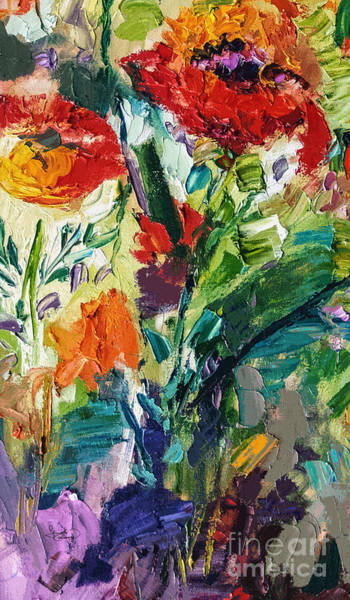Painting - Modern Expressive Red Poppies Wildflowers by Ginette Callaway