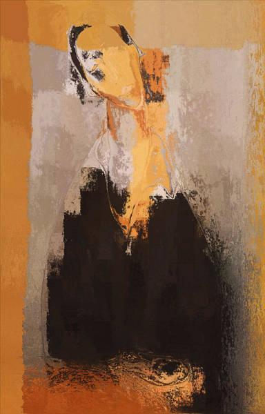 Yellow Ochre Wall Art - Digital Art - Modern From Classic Art Portrait - 088a by Variance Collections