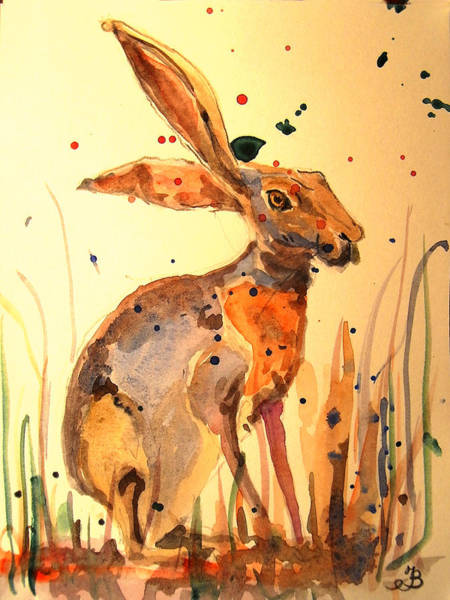 Hare Wall Art - Painting - Modern Hare by Juan  Bosco