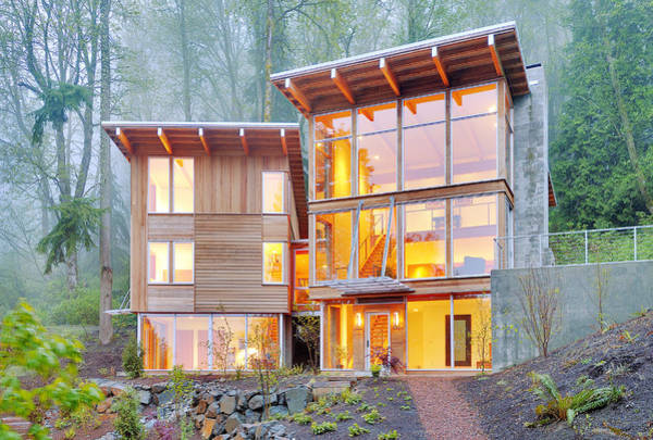 Wall Art - Photograph - Modern Home In Woods by Will Austin