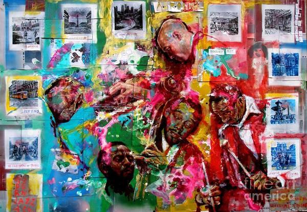 Wall Art - Painting - Modern Jazz Quartet by Massimo Chioccia