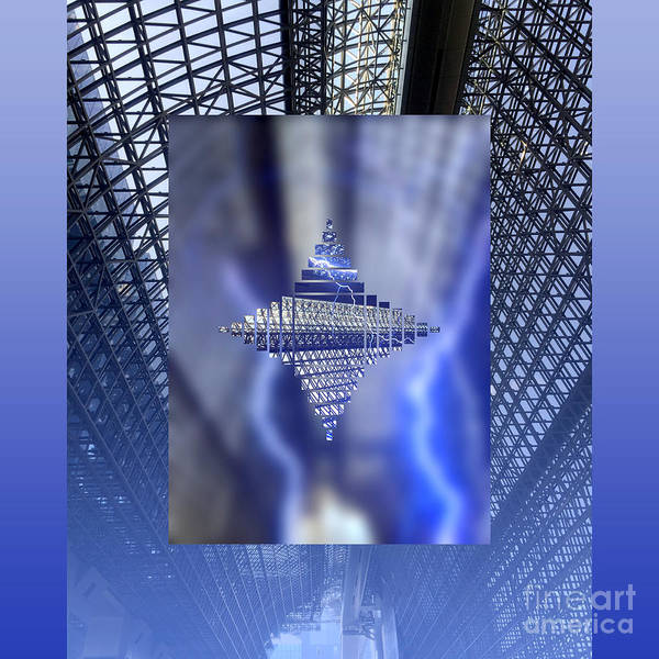 Digital Art - Modern Kyoto Station 2 by Beverly Claire Kaiya