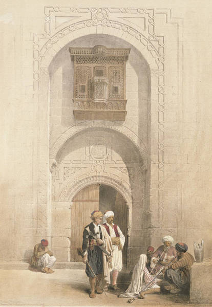 Balcony Drawing - Modern Mansion, Showing The Arabesque by David Roberts