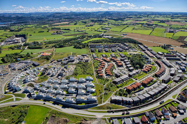 Suburbs Photograph - Modern Residental Area In Norway by Sindre Ellingsen