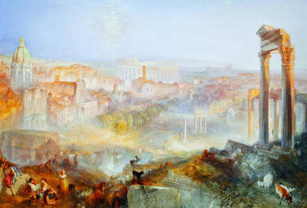 Painting - Modern Rome Campo Vaccino by Celestial Images