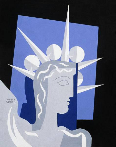 1939 Digital Art - Modern Statue Of Liberty by Witold Gordon