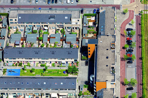 Suburbs Photograph - Modern Suburb Aerial View by Opla