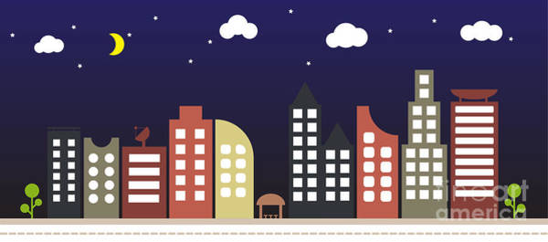 Home Digital Art - Modern Urban Building Landscape Vector by Bwart