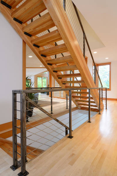 Wall Art - Photograph - Modern Wooden Staircase by Will Austin
