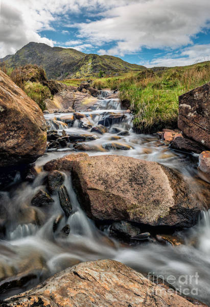 North Wales Wall Art - Photograph - Moel Siabod Stream  by Adrian Evans