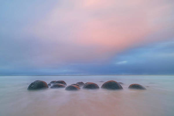 New Zealand Photograph - Moeraki Boulders by Hua Zhu