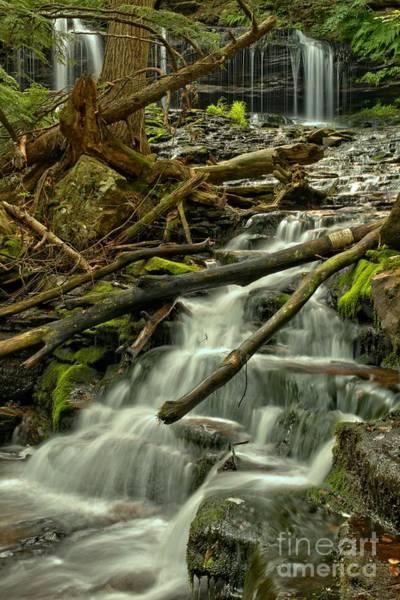 Photograph - Mohawk Falls Portrait by Adam Jewell