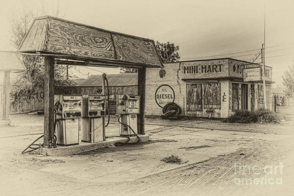 Photograph - Mohawk Mini Mart In Sepia by Eddie Yerkish