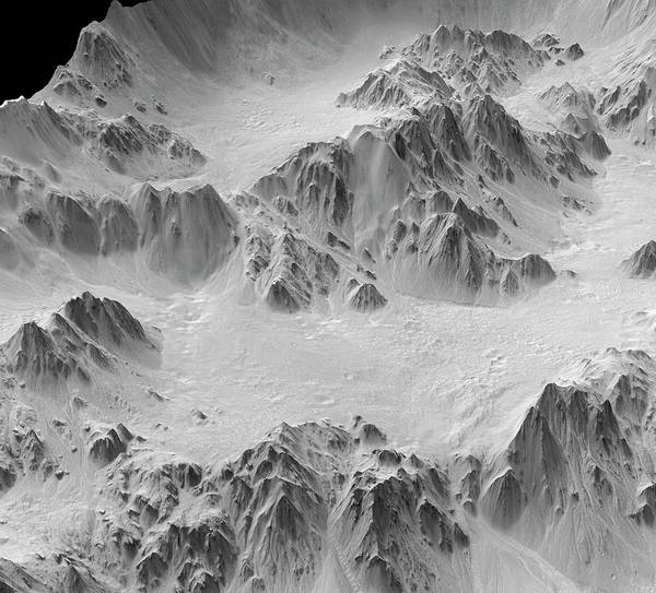 Mojave Photograph - Mojave Crater by Jpl-caltech/university Of Arizona/nasa/science Photo Library