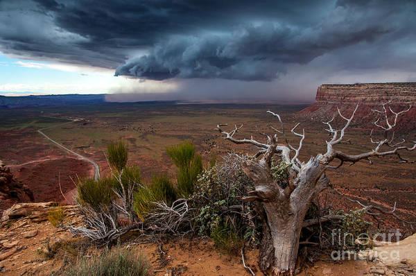 Moki Dugway Thunderstorm - Southern Utah Art Print