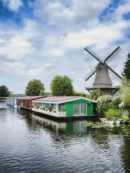 Houseboat Photograph - Molen Van Sloten And River by Phyllis Taylor