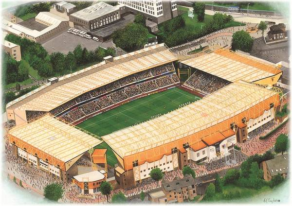 Wall Art - Painting - Molineux - Wolverhampton Wanderers by Kevin Fletcher