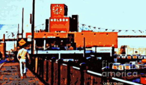 Painting - Molson's Clock Tower On The Pier Old Montreal Vintage City Scene Art By Carole Spandau by Carole Spandau