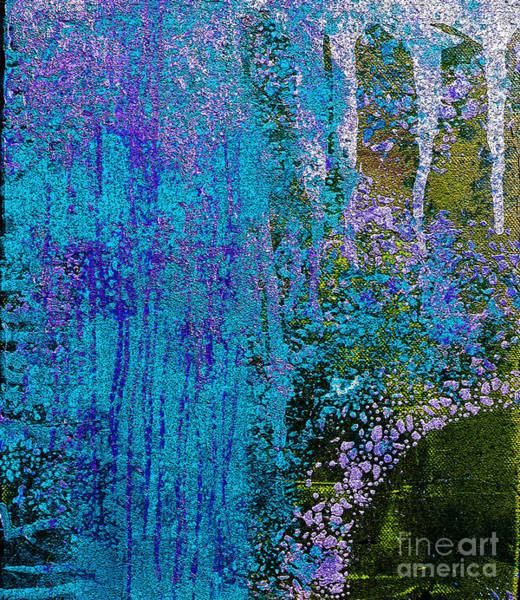 Pink Champagne Painting - Molten Earth Blue by Kusum Vij