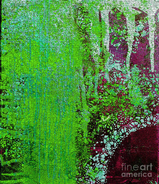 Pink Champagne Painting - Molten Earth Lime by Kusum Vij