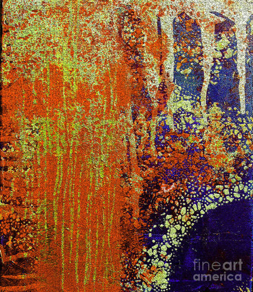 Pink Champagne Painting - Molten Earth Orange by Kusum Vij