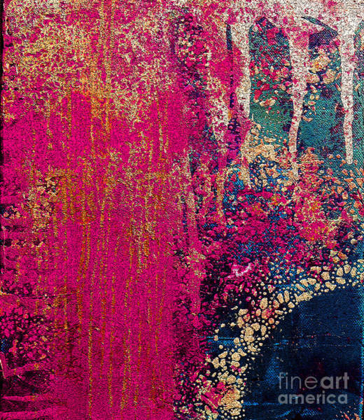 Pink Champagne Painting - Molten Earth Pink by Kusum Vij