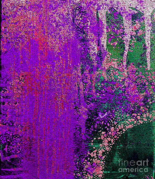 Pink Champagne Painting - Molten Earth Purple by Kusum Vij