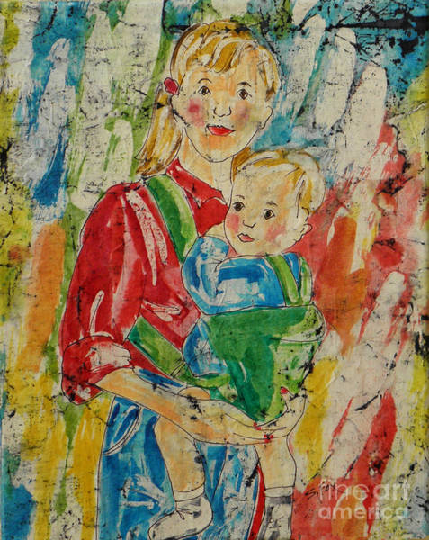 Painting - Mom And Baby by Sandra Fox