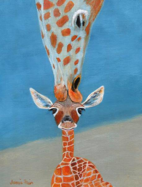 Mama Africa Wall Art - Painting - Mom Loves Me by Jamie Frier