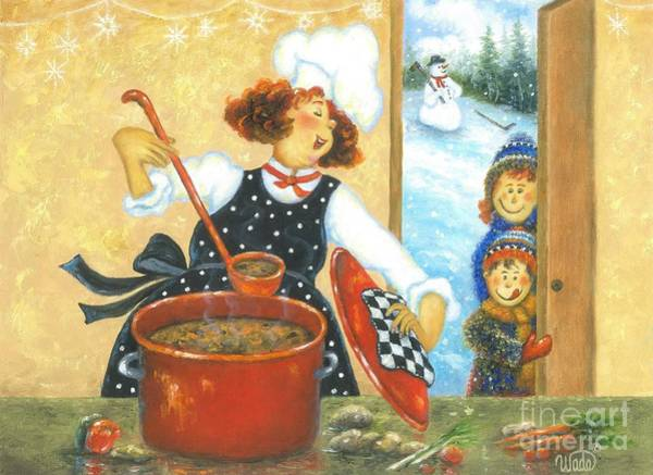 Wall Art - Painting - Mom Soup Chef by Vickie Wade