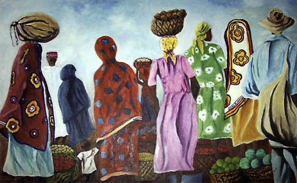 Painting - Mombasa Market by Sher Nasser