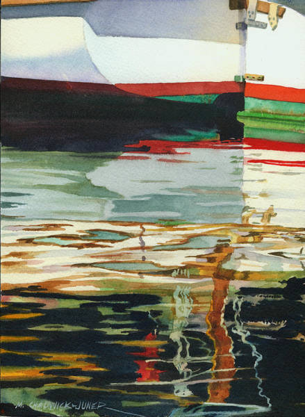 Rudder Painting - Moment Of Reflection Xiii by Marguerite Chadwick-Juner