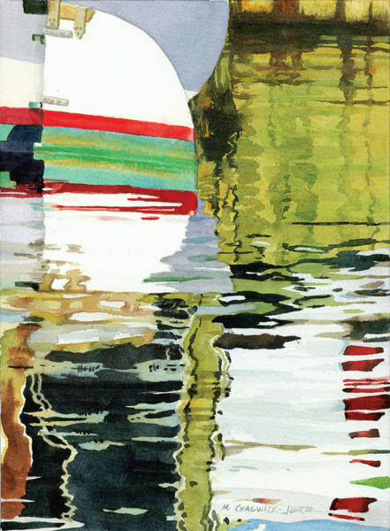 Rudder Painting - Moment Of Reflection Xv by Marguerite Chadwick-Juner