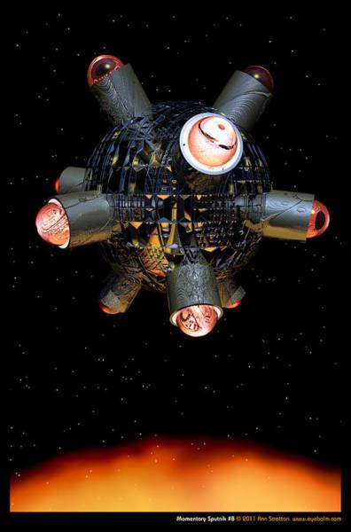 Digital Art - Momentary Sputnik 8  by Ann Stretton