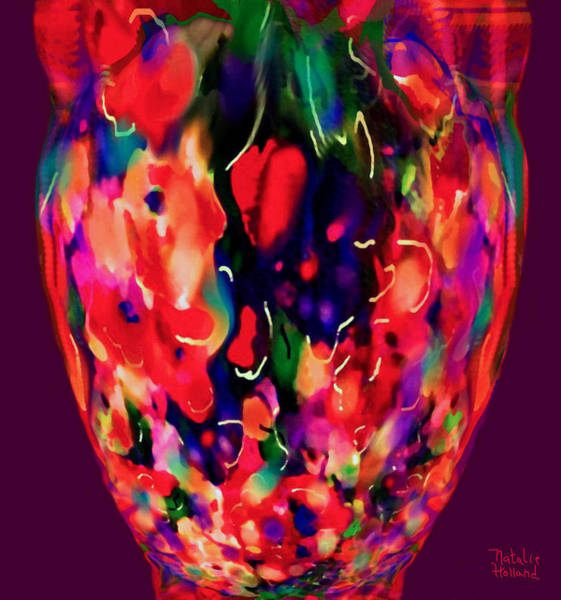 New Leaf Mixed Media - Mom's Venetian Glass Vase by Natalie Holland