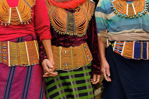 Beading Photograph - Mon Village Nagaland, Northeast India by Ellen Clark